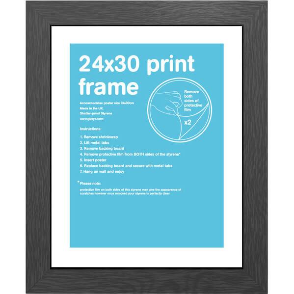 black frame 24 x 30cm merchandise zavvicom
