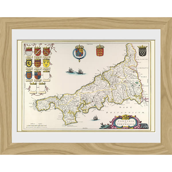Maps Cornwall - 30 x 40cm Collector Prints