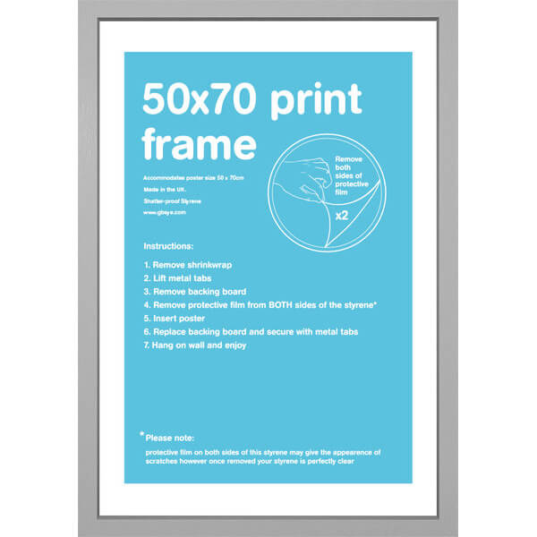 Silver Frame 50 x 70cm