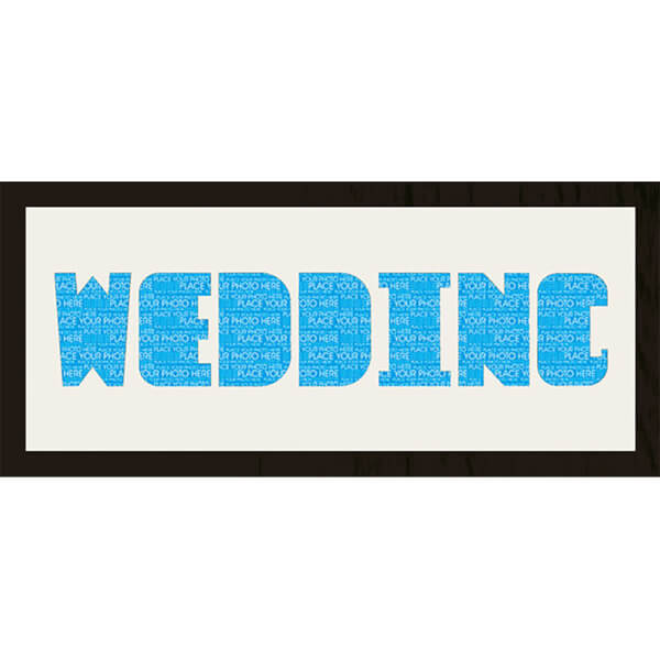 GB Cream Mount Wedding Photo Font - Framed Mount - 12