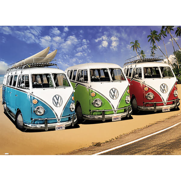 VW Californian Camper Campers Beach - Giant Poster - 100 x 140cm