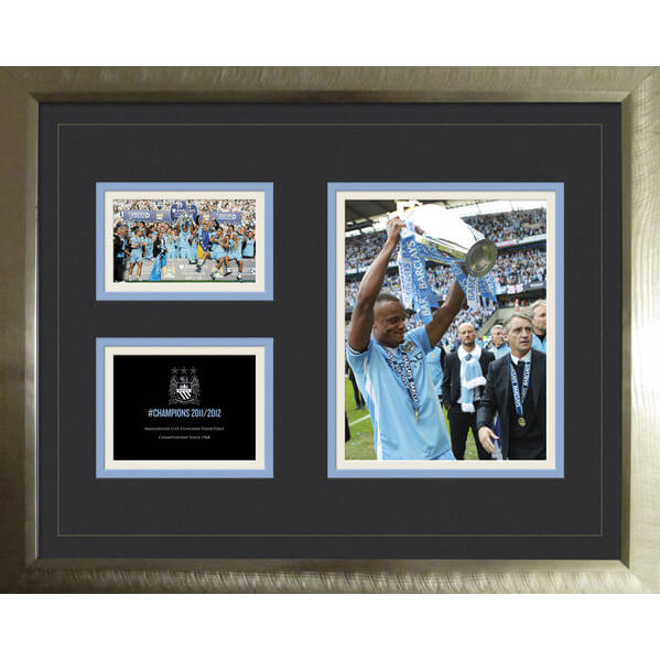 Manchester City Premier League Winners 11/12 - High End Framed Photo - 16