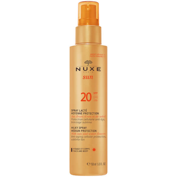 NUXE Sun Milky Spray Face og Body SPF 20 (150 ml) - Exclusive