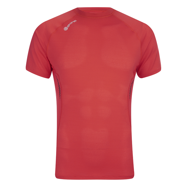 Skins Men's 360 Short Sleeve Tech Fierce Top - Red