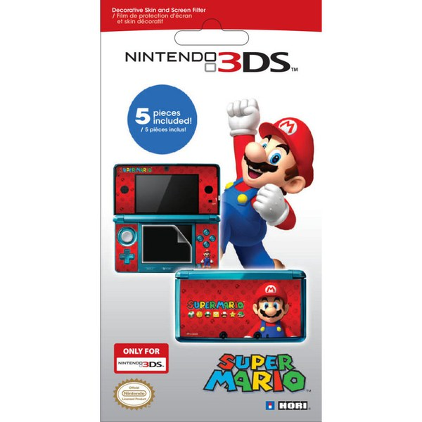 Nintendo 3DS Super Mario Screen Protective Filter & Skin Set