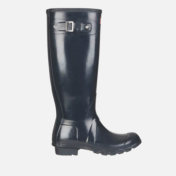 Hunter Women's Original Tall Gloss Wellies - Navy