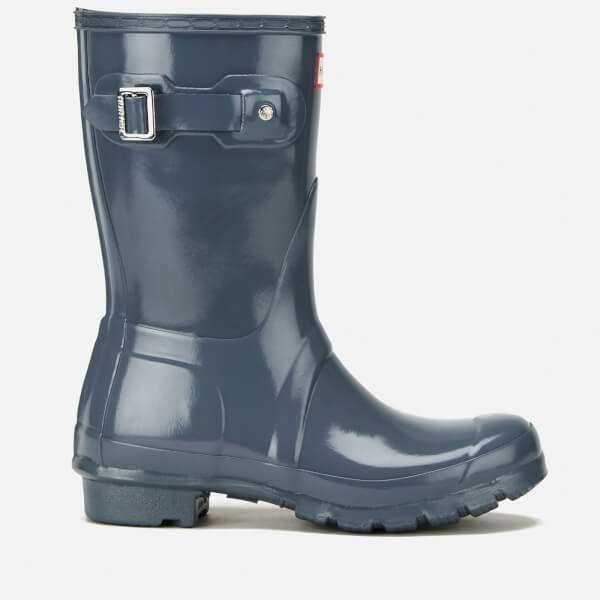 Hunter Women's Original Short Gloss Wellies - Graphite