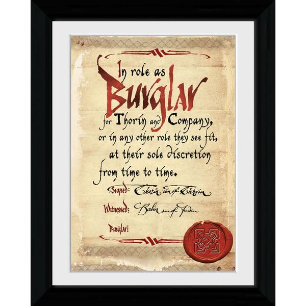 The Hobbit Burglar - Collector Print - 30 x 40cm