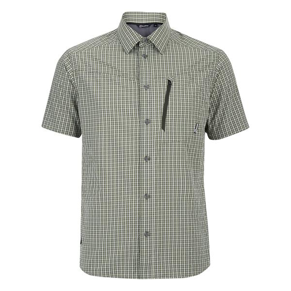 Berghaus Men's Lawrence Short Sleeve Shirt - Green/White Check