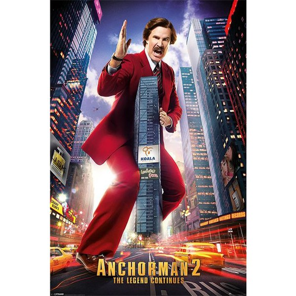 Anchorman 2 Ron Burgundy - Maxi Poster - 61 x 91.5cm