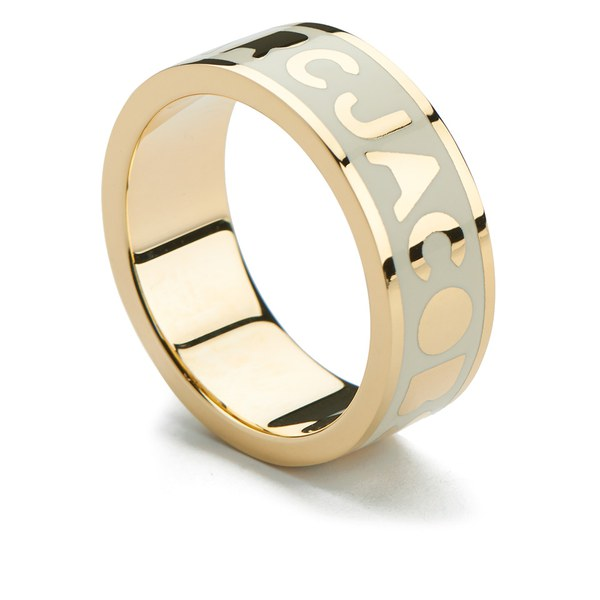 Marc by Marc Jacobs Women's Classic Marc Logo Band Ring - Cream