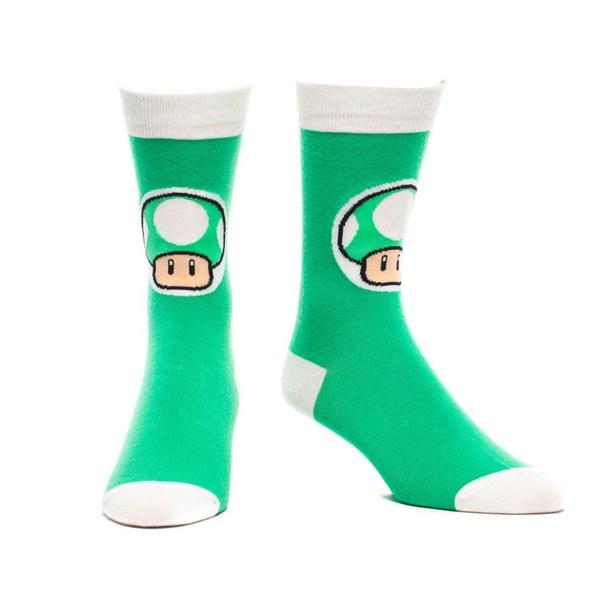1-UP Mushroom - Crew Socks