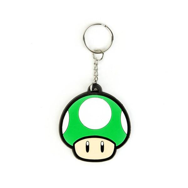 1-UP Mushroom - Rubber Keychain