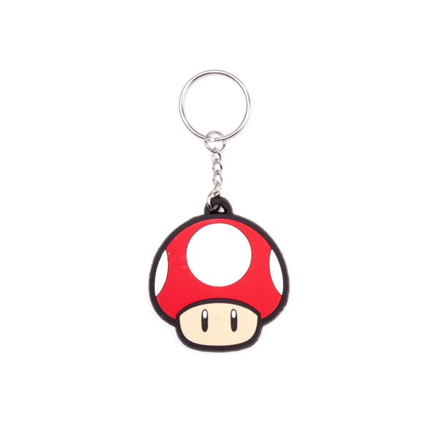 Super Mushroom - Rubber Keychain