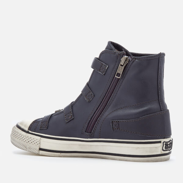 Buy Cheap Buy Ash Women's Virgin Leather Hi-Top Trainers - Graphite - UK 3 New Release reHcpWw