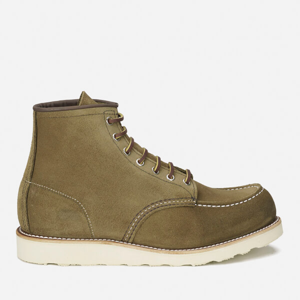 Red Wing Men's 6 Inch Moc Toe Leather Lace Up Boots - Olive Mohave - UK 6/US 7