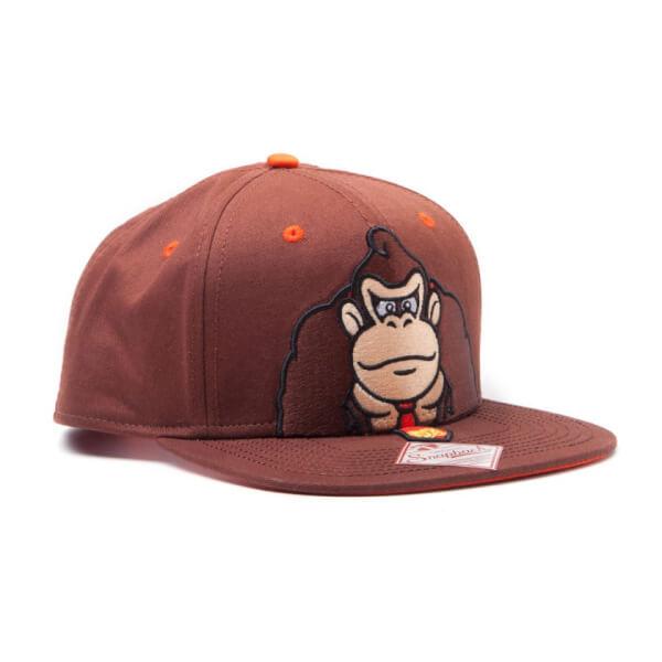 Donkey Kong Snapback Cap - Brown