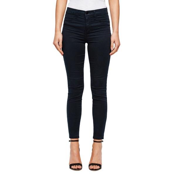J Brand Women's Maria High Rise Sateen Skinny Jeans - Blue Velvet