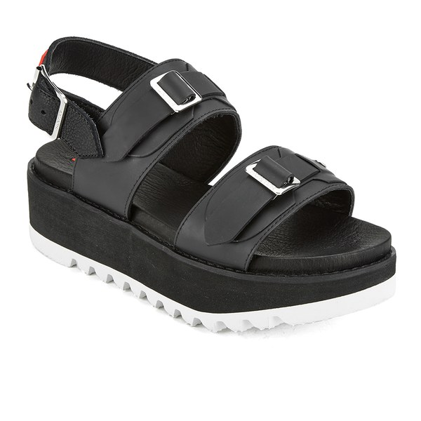 454d251c336 Hunter Women s Original Double Buckle Mid Flatform Sandals - Black  Image 5
