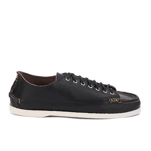 Yuketen Men's Suede Sneaker/Moccasin Shoes - Black/White Sole