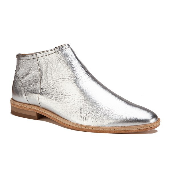Hudson London Women S Shift Leather Ankle Boots Silver