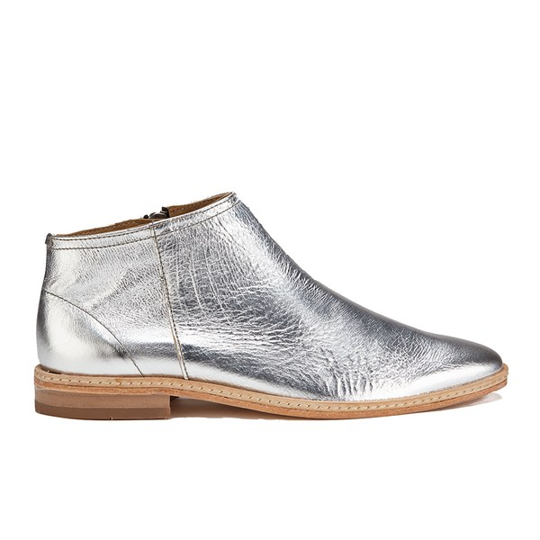 H Shoes by Hudson Women's Shift Leather Ankle Boots - Silver
