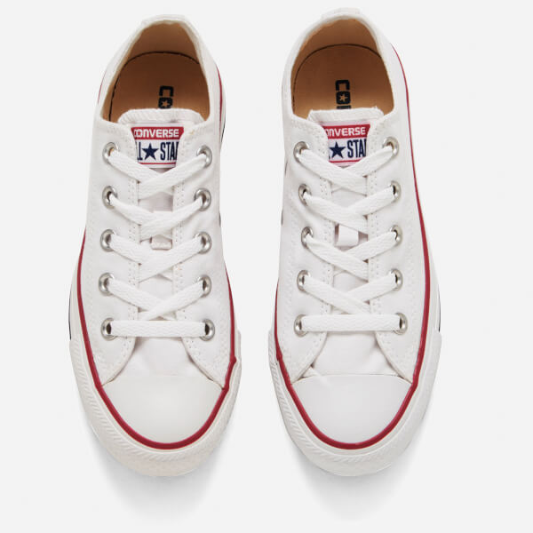 Converse Chuck Taylor All Star Ox Canvas Trainers - Optical White  Image 2 394ef38a6