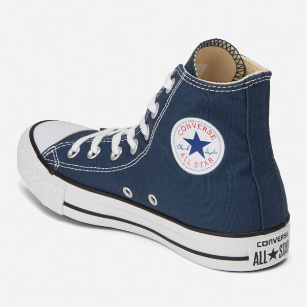 Converse Unisex Chuck Taylor All Star Canvas Hi-Top Trainers - Navy  Image 5 0c56b2e1b