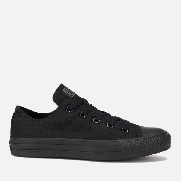 aa0a8495a0c Converse Chuck Taylor All Star Ox Canvas Trainers - Black Monochrome  Image  1