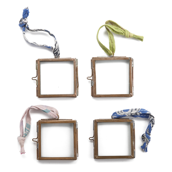 Nkuku Tiny Kiko Frame - Antique Copper - Set of 4  9x7x8cm
