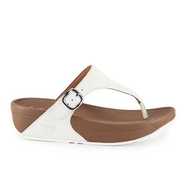 Womens The Skinny Open Toe Sandals, White FitFlop