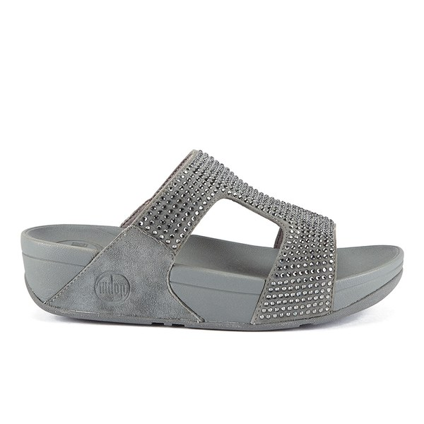 5f5c7b9f399f1 FitFlop Women s Rokkit Suede Slide Sandals - Silver Nova  Image 1