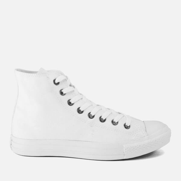 Converse Unisex Chuck Taylor All Star Canvas Hi-Top Trainers - White Monochrome