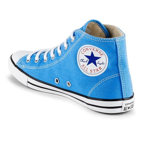 Converse Women s Chuck Taylor All Star Dainty Canvas Hi-Top Trainers -  Monte Blue  09f3e3a72