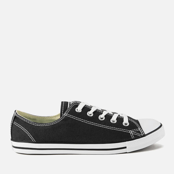Converse Women s Chuck Taylor All Star Dainty OX Trainers - Black  Image 1 c4c638de1
