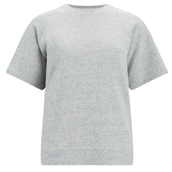 Folk Women's Short Sleeve Sweatshirt - Grey/Blue