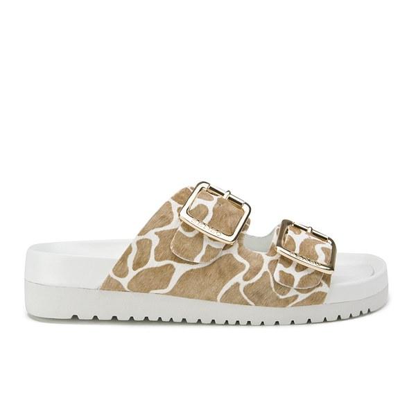 Senso Women's Ida XI Double Strap Giraffe Pony Sandals - Steel