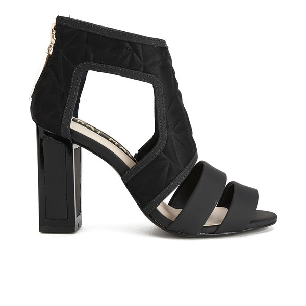 Kat Maconie Women's Georgia Leather Cut Out Heeled Sandals - Black