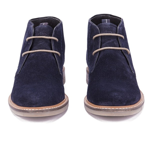 Barbour Men's Readhead Suede Chukka Boots - Navy - Free UK ...