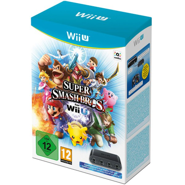 Super smash bros for wii u gamecube controller adapter for wii u nintendo official uk store - Console wii u super smash bros ...