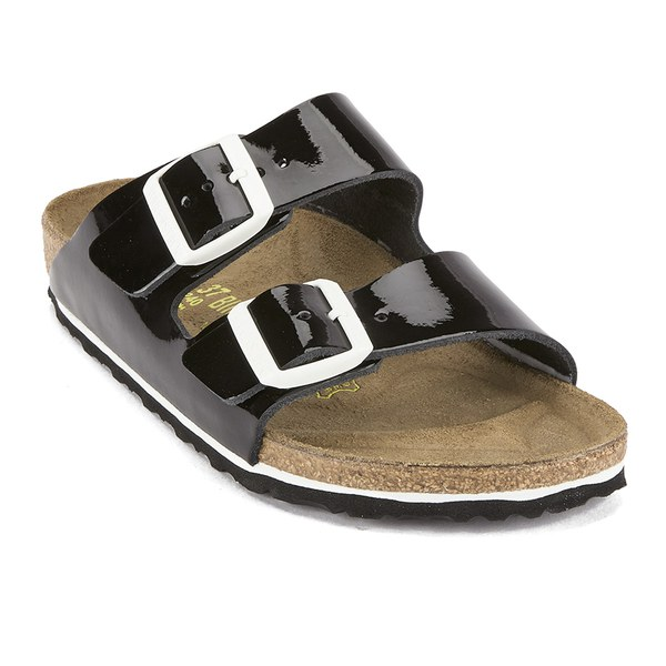 Birkenstock Women s Arizona Slim Fit Double Strap Patent Leather Sandals - Black  Patent  Image 5 c6aaacb6d8