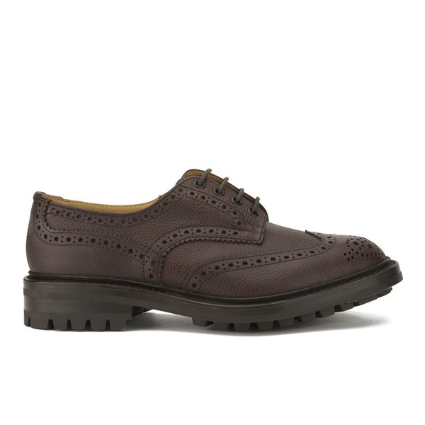 Tricker's Men's Ilkley Zug Grain Leather Brogues - Brown