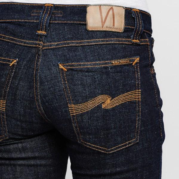 Nudie Jeans Womenu0026#39;s Long John Skinny Jeans - Twill Risned ...