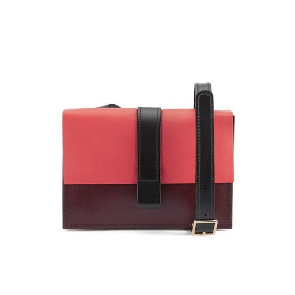 Danielle Foster Women's Kim Cross Body Bag -  Black/Burgundy/Coral