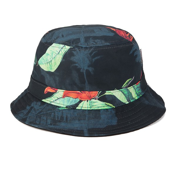Carhartt Men s Reversible Bucket Hat - Black Tropic Print Clothing ... f0c50d6fb395