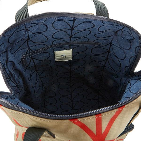 630854f37420 Etc by Orla Kiely Women s Giant Linear Stem Backpack - Stone  Image 4