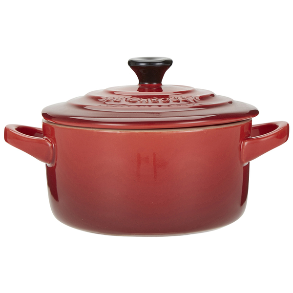 le creuset stoneware petite casserole dish cerise iwoot. Black Bedroom Furniture Sets. Home Design Ideas