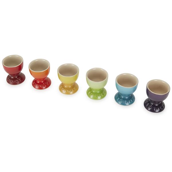 Le Creuset Stoneware Rainbow Egg Cups Set Of 6 Multi