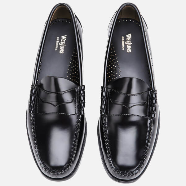 bfce72aab29 Bass Weejuns Men s Larson Moc Leather Penny Loafers - Black  Image 2