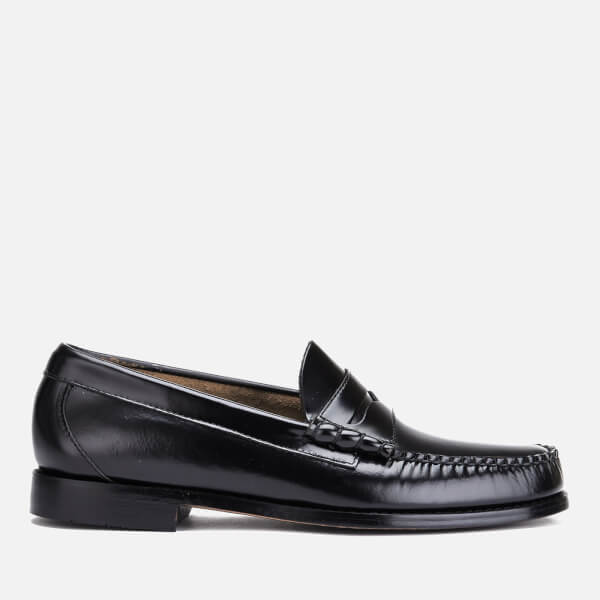 Bass Weejuns Men's Larson Moc Leather Penny Loafers - Black